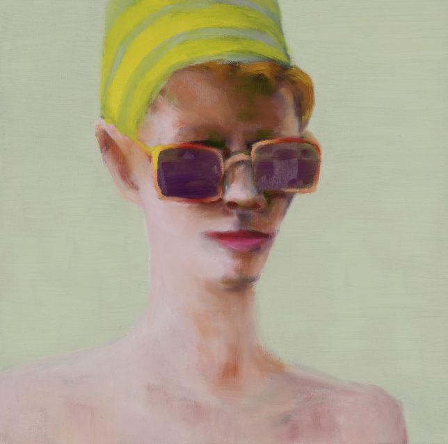 Tjark Ihmels, Entdeckung, 2018, Öl auf Leinwand, 40 x 40 cm