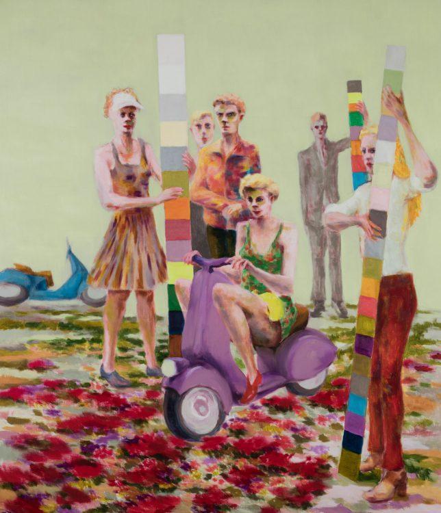 Tjark Ihmels, Probefahrt, 2018, Öl auf Leinwand, 140 x 120 cm