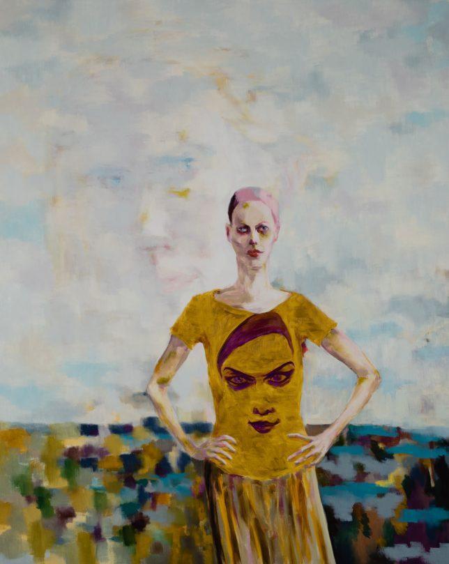 Tjark Ihmels, Plötzlich zu dritt, 2019, Öl auf Leinwand, 200 x 160 cm