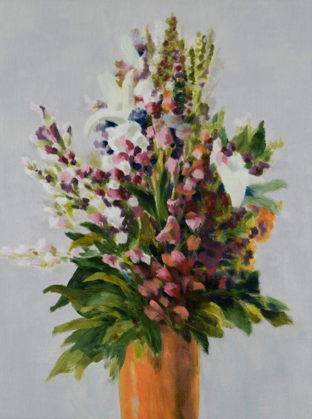 Tjark Ihmels, Großer Blumenstrauß, 2019, Öl auf Leinwand, 80 x 60 cm