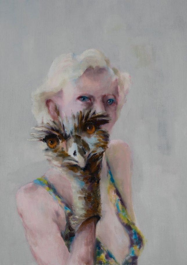 Tjark Ihmels, Handpuppe, 2019, Öl auf Leinwand, 70 x 50 cm