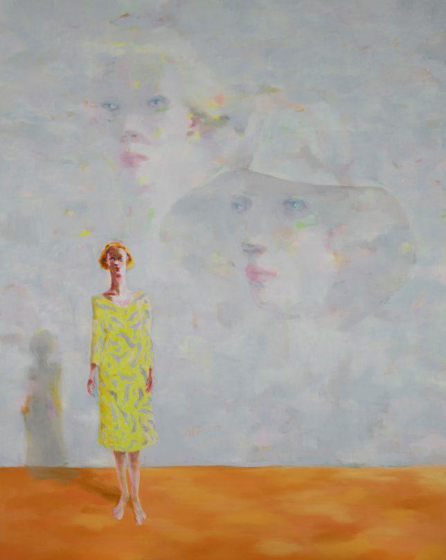 Tjark Ihmels, In Position, 2019, Öl auf Leinwand, 200 x 160 cm