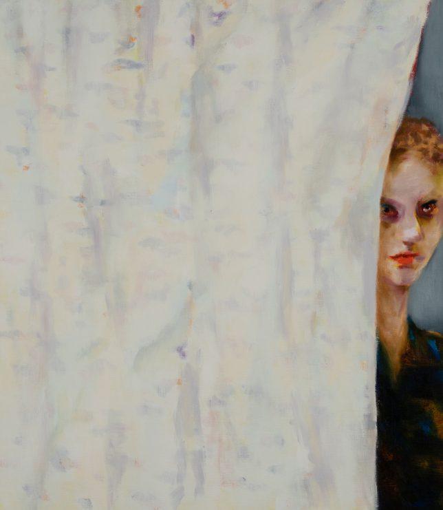 Tjark Ihmels, Vorhang, 2019, Öl auf Leinwand, 80 x 70 cm
