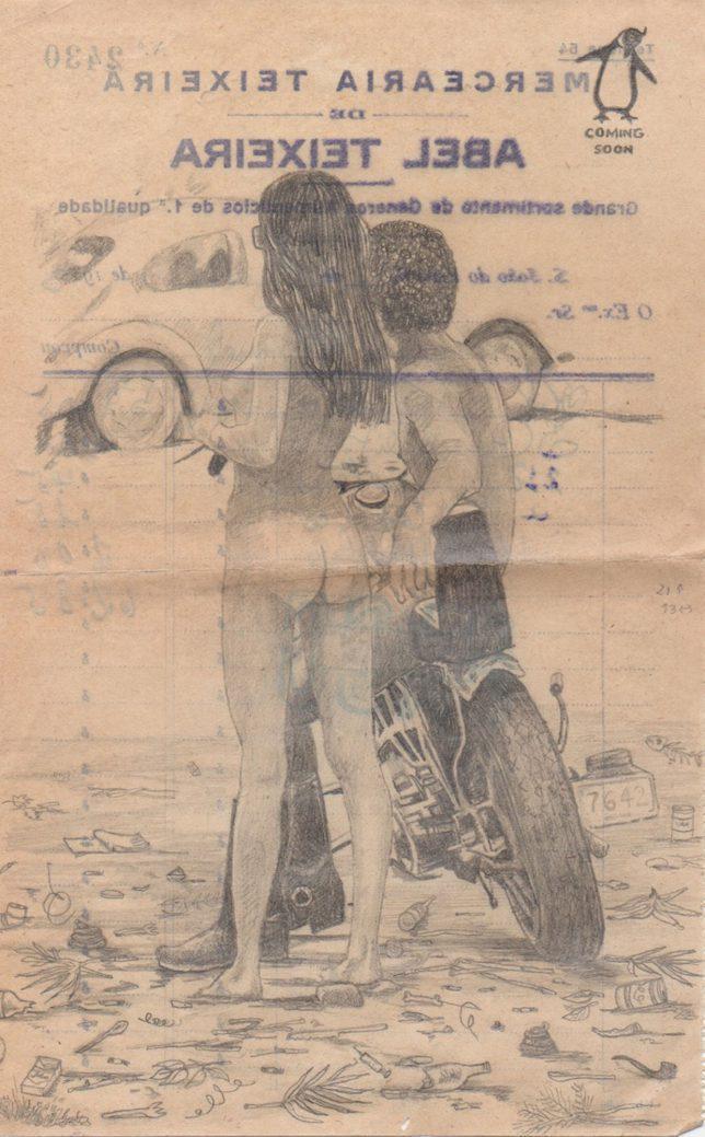 Jan Schmelcher, Abel, 2019, Bleistift auf Papier, 21 x 13 cm