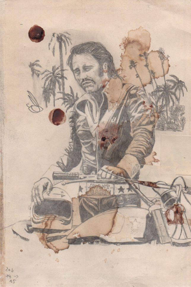 Jan Schmelcher, Allo Maman Bobo, 2019, Bleistift auf Papier, 20 x 15 cm