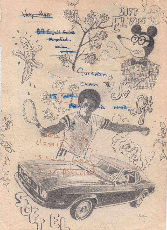 Jan Schmelcher, Vicky & Jane, 2019, Bleistift auf Papier, 27 x 20 cm