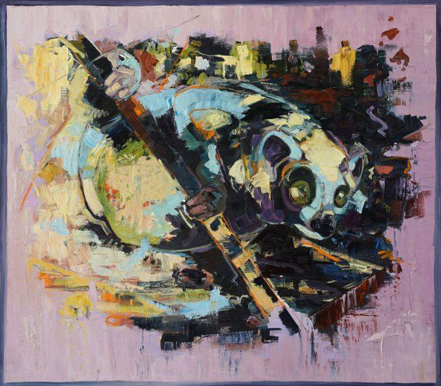 Philipp Kummer, Echo of an Echo, 2017, ÖL auf Leinwand, 150 x 170 cm