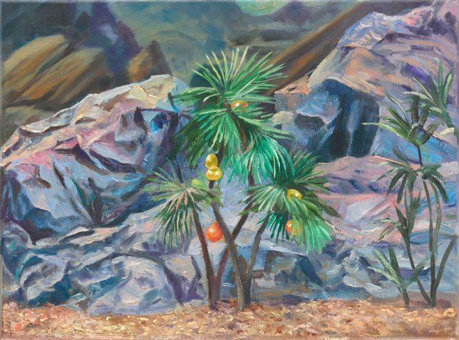 Sebastian Meschenmoser, Delta Vega 1, 2018, oil on canvas, 25 x 35 cm