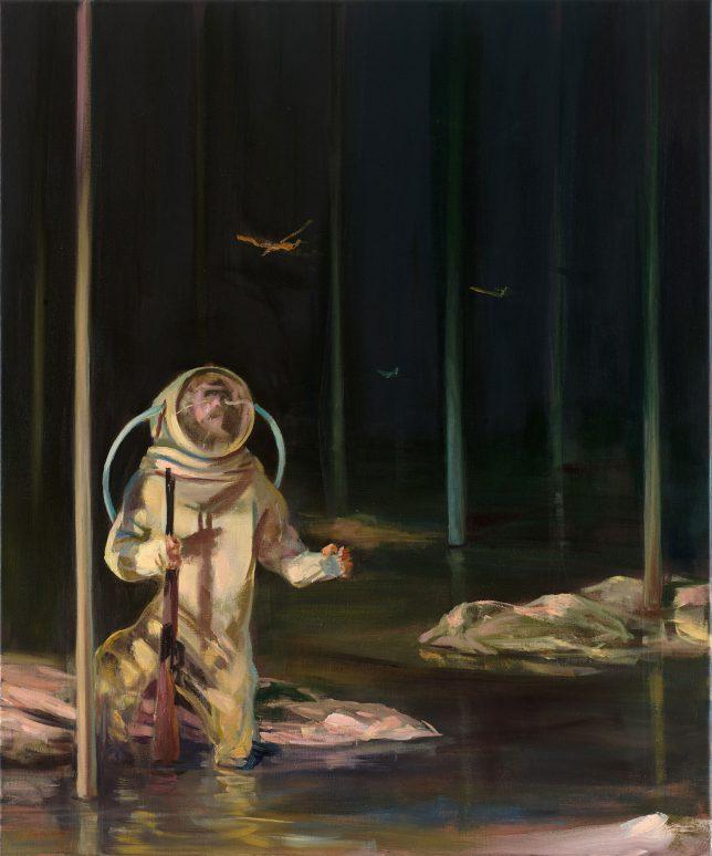 Sebastian Meschenmoser, Moor, 2017, Öl auf Leinwand, 90 x 75 cm