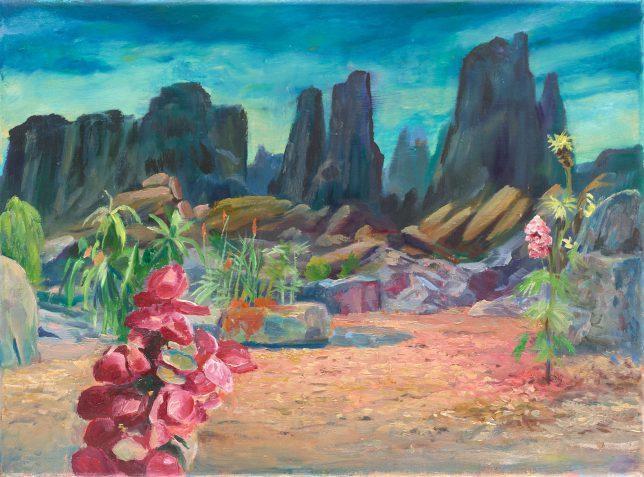 Sebastian Meschenmoser, Delta Vega 2, 2018, oil on canvas, 25 x 35 cm