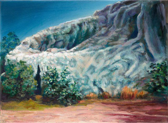 Sebastian Meschenmoser, Capella-IV, 2019, oil on canvas, 26 x 35 cm