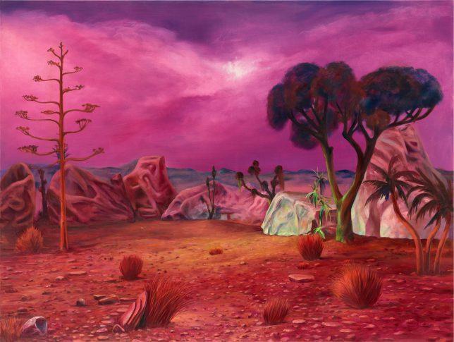Sebastian Meschenmoser, Gamma Canaris, Panorama, 2019, oil on canvas, 135 x 180 cm