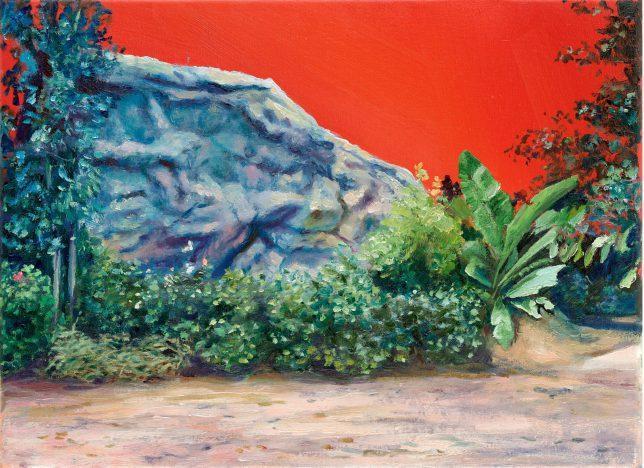 Sebastian Meschenmoser, Gamma Trianguli VI, 2019, oil on canvas, 26 x 35 cm