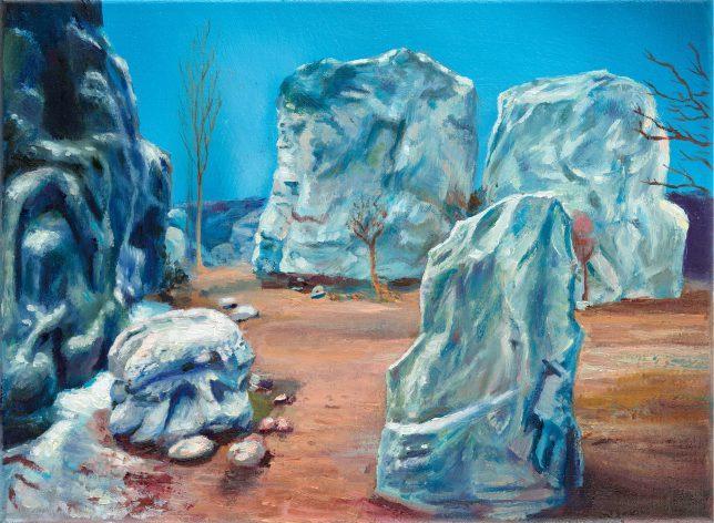 Sebastian Meschenmoser, Sigma Draconis, 2019, oil on canvas, 26 x 35 cm