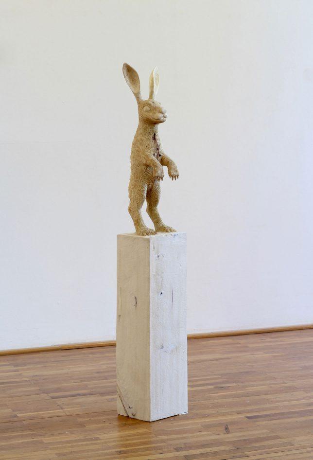 Jan Thomas, Bunny, 2018, Pappelholz, Lasur, 145 cm