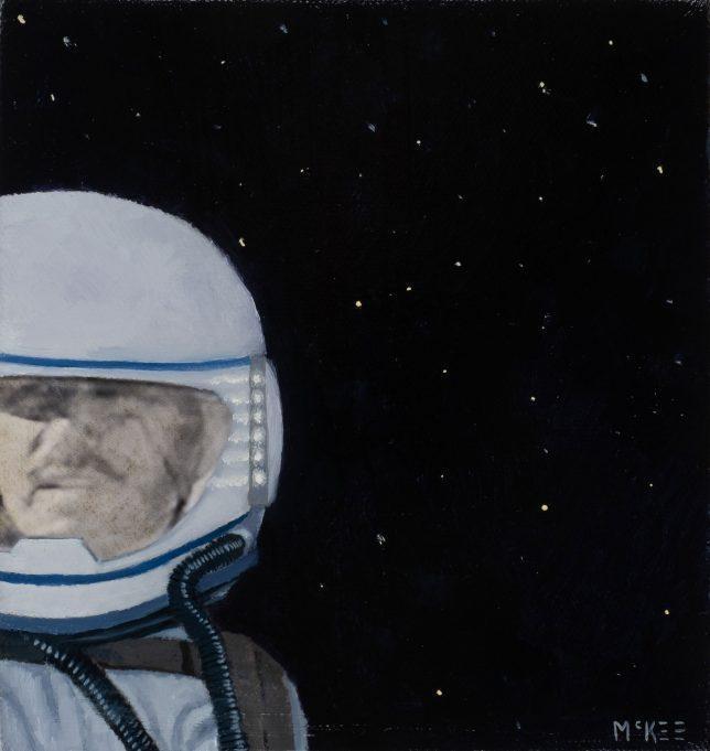 Casey McKee, Stellar Wind, 2018, C-Print Öl auf Leinwand, 15 x 14,5 cm