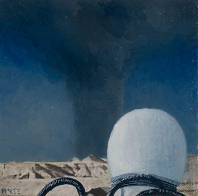 Casey McKee, Turbulence, 2018, C-Print Öl auf Leinwand, 15 x 15,5 cm