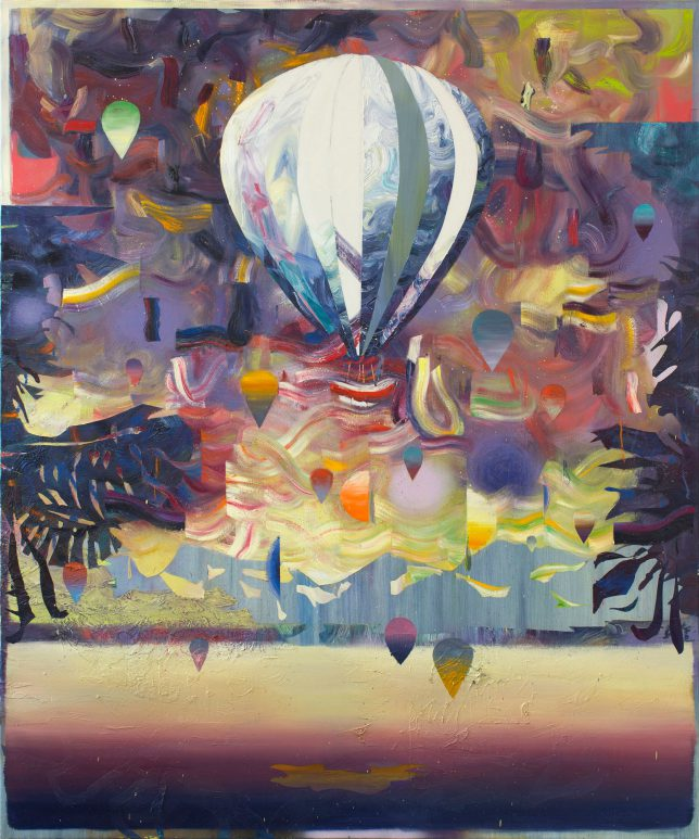Matthias Moravek, Eclipse, 2019, oil on canvas, 180 x 150 cm