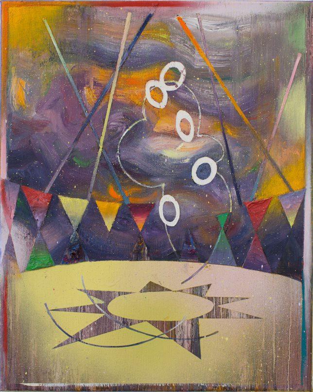 Matthias Moravek, Manege, 2019, Oil on Canvas, 50 x 40 cm