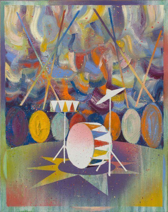 Matthias Moravek, Batterie, 2020, Öl auf Leinwand, 50 x 40 cm