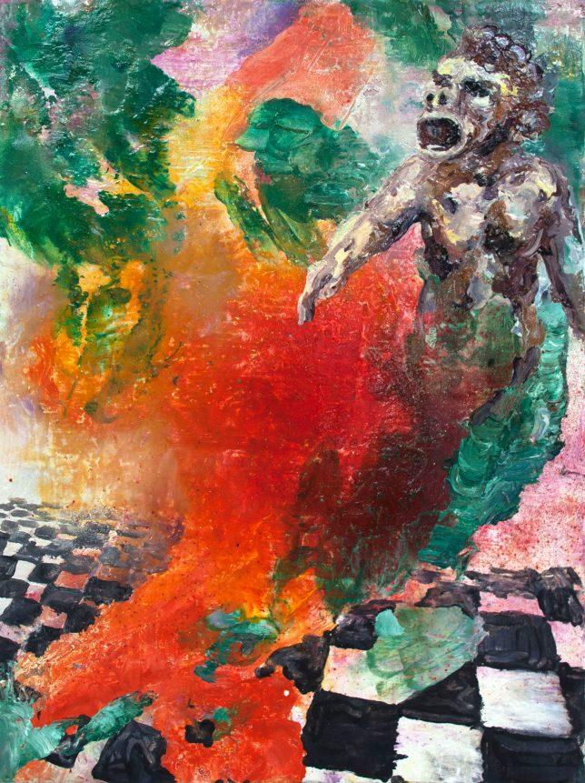 Florian Pelka, Zarathustra, 2014, oil on canvas, 40 x 30 cm