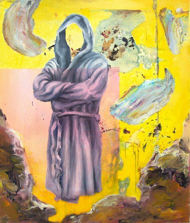 Florian Pelka, Komfortfzone Rosa, 2018, oil on canvas, 70 x 60