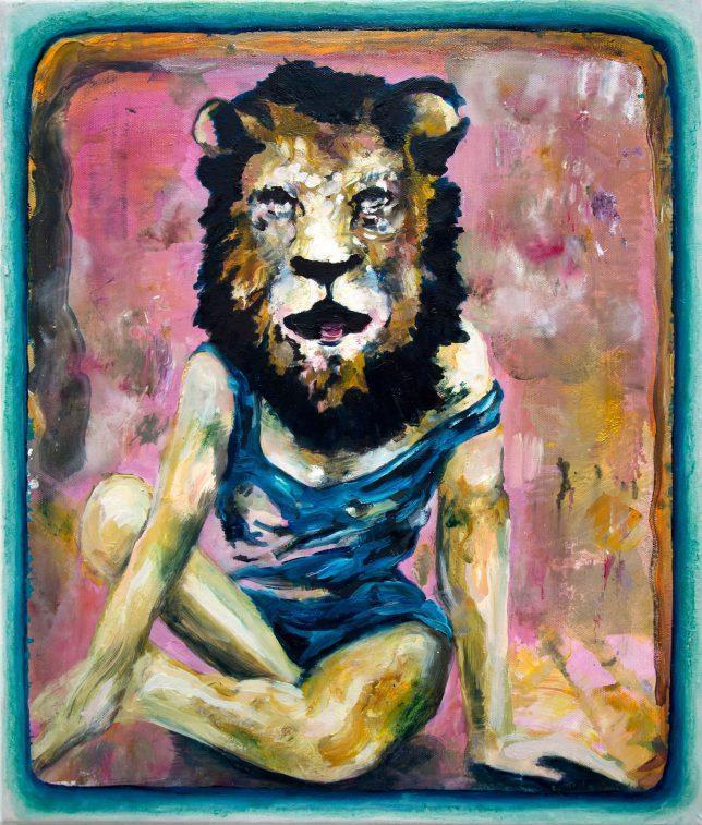 Florian Pelka, LÖVIN, 2018, oil on canvas, 70 x 60
