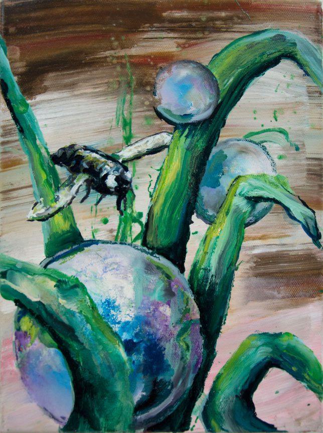 Florian Pelka, Tau, 2018, Öl auf Leinwand, 40 x 30 cm