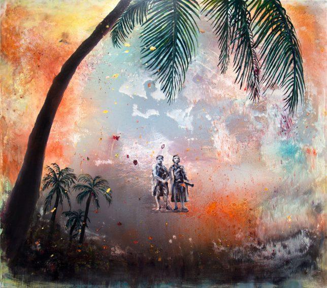 Florian Pelka, Klassik Extrem, 2019, Öl auf Leinwand, 150 x 170 cm