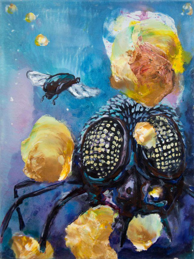 Florian Pelka, Monster, 2019, oil on canvas, 40 x 30 cm
