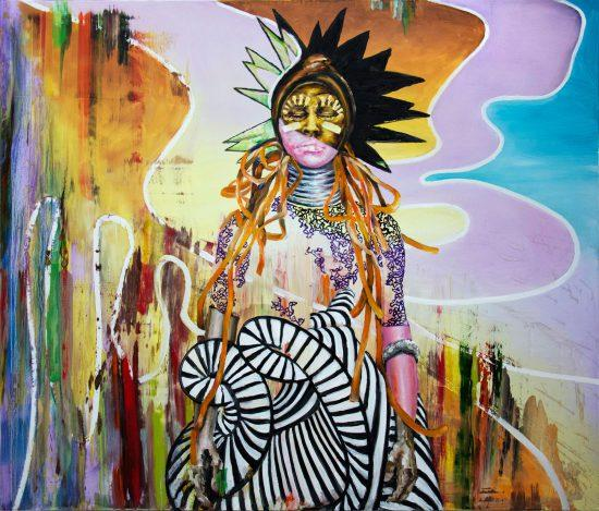 Florian Pelka, Träumerin, 2019, Öl auf Leinwand, 170 x 200 cm