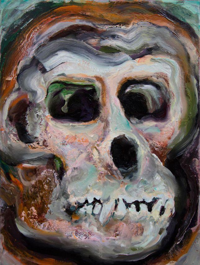 Florian Pelka, Funky Friend, 2020, oil on canvas, 40 x 30 cm