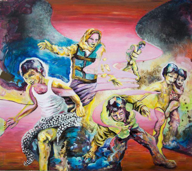 Florian Pelka, Beim Erreichen Der Ebene, 2017, oil on canvas, 150 x 170 cm