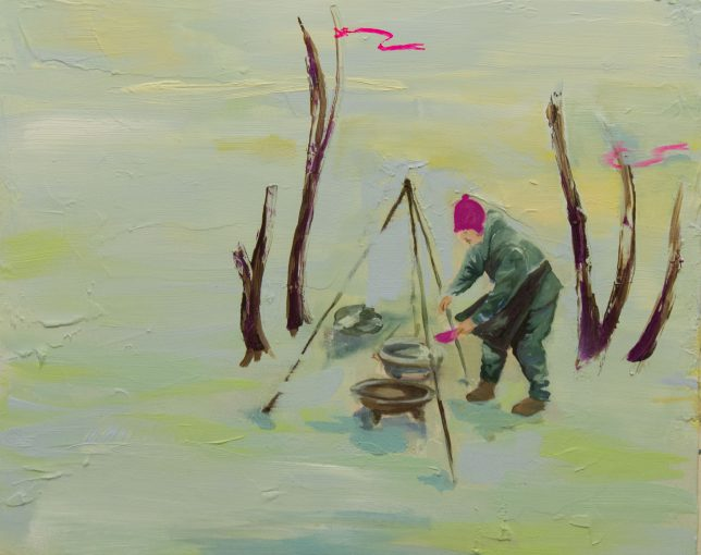 Ekaterina Leo, Nocturnes I, 2017, Öl auf Leinwand, 40 x 50 cm