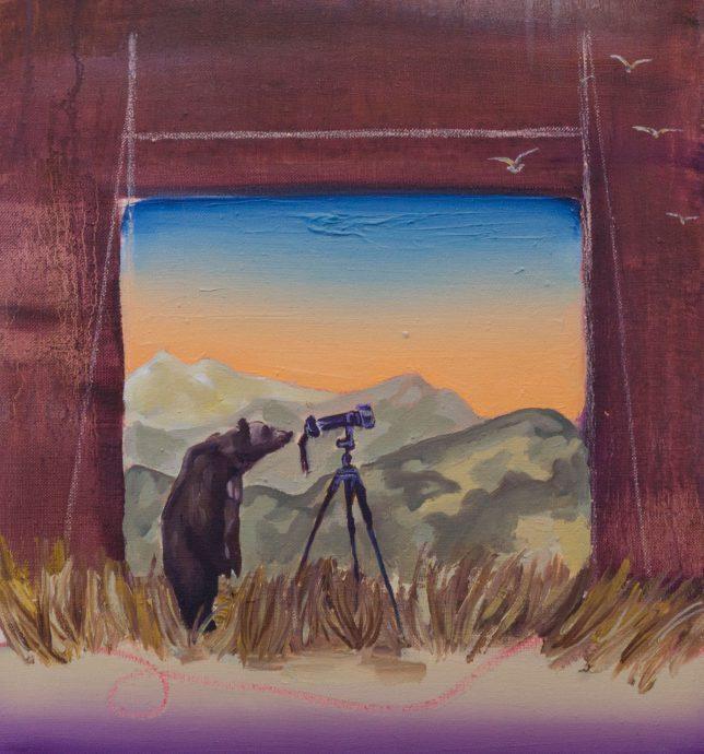 Ekaterina Leo, Looking Through the Mirror III, 2018, Öl auf Leinwand, 42 x 39 cm