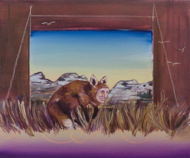Ekaterina Leo, Looking Through the Mirror I, 2018, Öl auf Leinwand, 40 x 48 cm