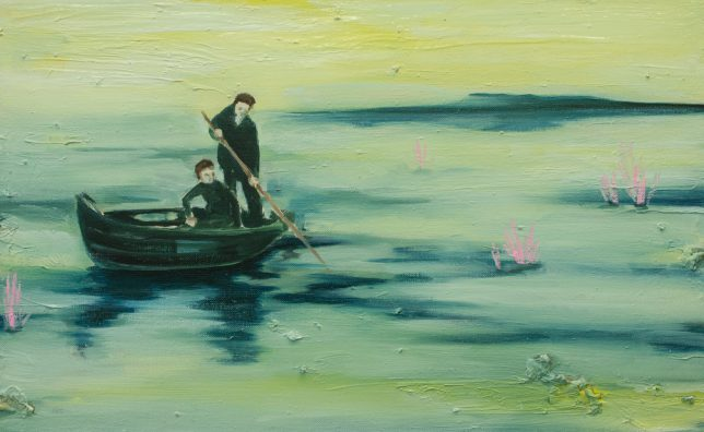 Ekaterina Leo, Milky River, 2018, oil on wood, 34 x 51 cm