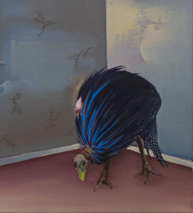 Ekaterina Leo, Wanna be a Peacpock, 2018, Öl auf Leinwand, 41 x 36 cm