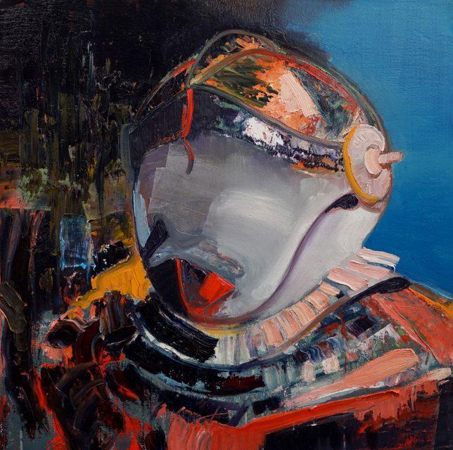 Philipp Kummer, Da Nicht Für, 2017, Öl auf Leinwand, 80 x 80 cm