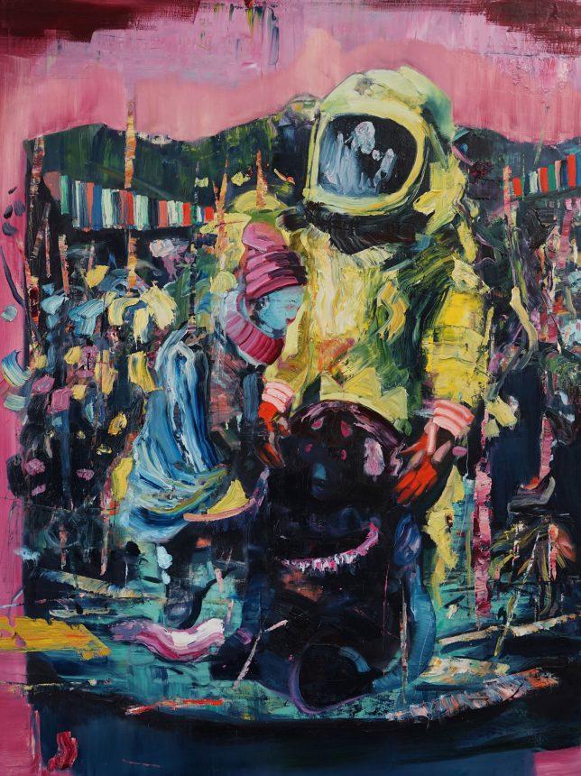 Philipp Kummer, Alles Klar, 2018, Öl auf Leinwand, 160 x 120 cm