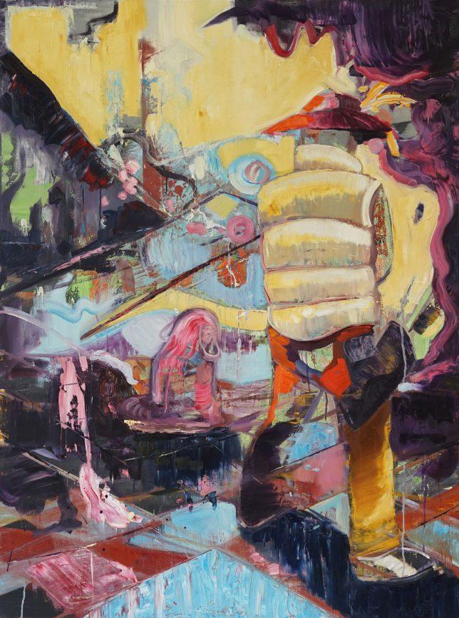 Philipp Kummer, Die Mitte, 2018, Öl auf Leinwand, 160 x 120 cm