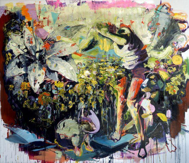 Philipp Kummer, Phalanx, 2018, Öl auf Leinwand, 200 x 230 cm