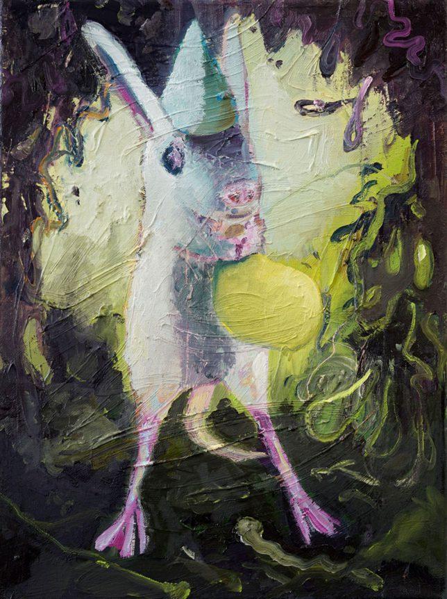 Philipp Kummer, Wissenschaft, 2018, Öl auf Leinwand, 40 x 30 cm