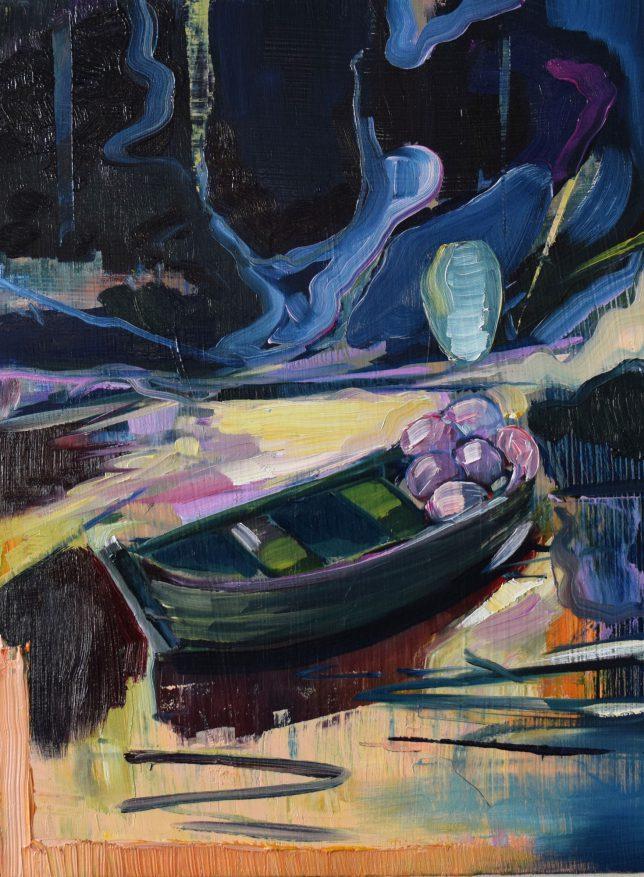 Philipp Kummer, Collector, 2019, Öl auf Holz, 40 x 30 cm