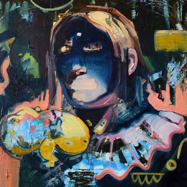 Philipp Kummer, I am Not Here To Make Friends, 2019, Öl auf Leinwand, 80 x 80 cm