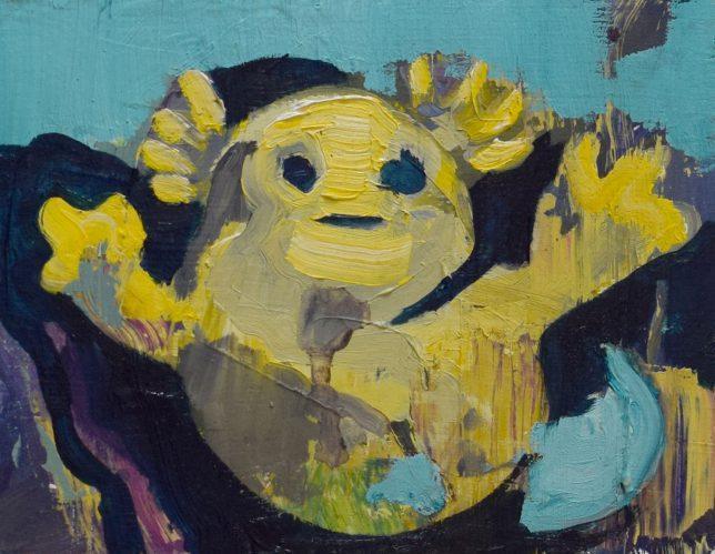 Philipp Kummer, So Einfach, 2019, Öl auf Holz, 20 x 15 cm