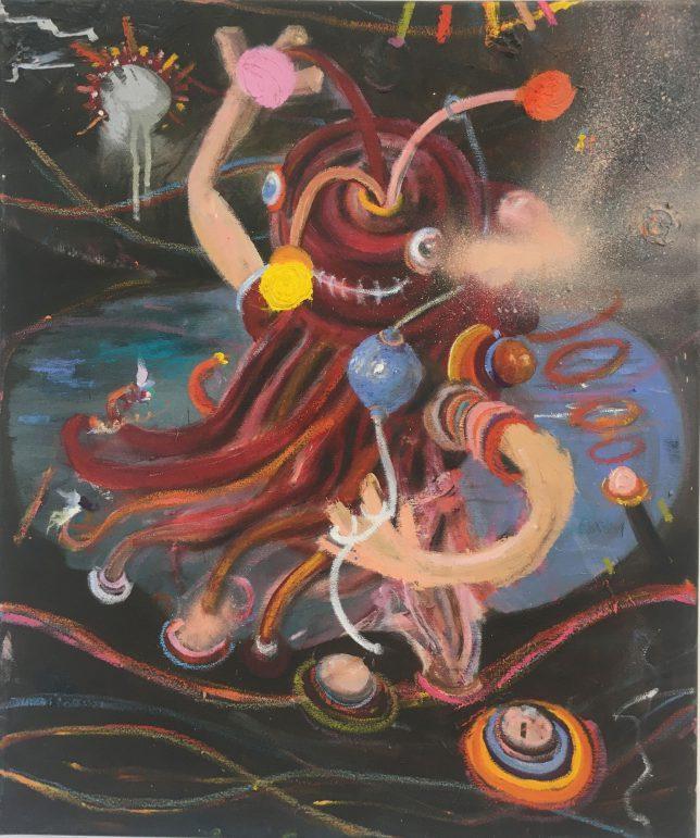 Philip Grözinger, Unknown Pleasures, 2016, Oil on Canvas, 60 x 50 cm