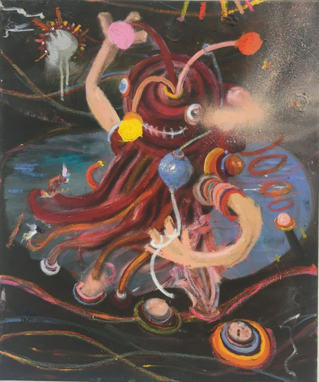 Philip Grözinger, Unknown Pleasures, 2016, Öl auf Leinwand, 60 x 50 cm