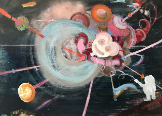 Philip Grözinger, I Could Have Trolled You, 2017-2020, Öl auf Leinwand, 50 x 70 cm
