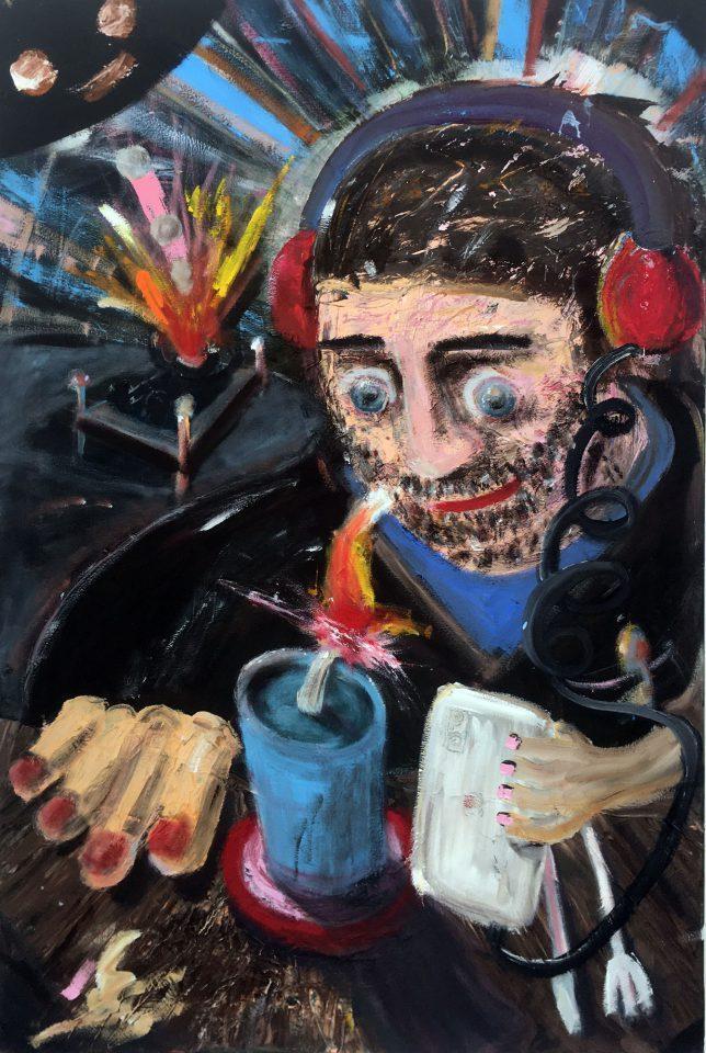 Philip Grözinger, Ich Hab aber was, 2019, Öl auf Leinwand, 90 x 60 cm